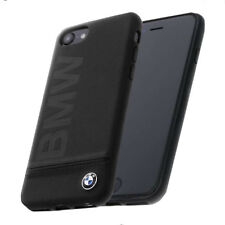 BMW Signature Logo Imprint Leather Hard Case - Black iPhone 7-8