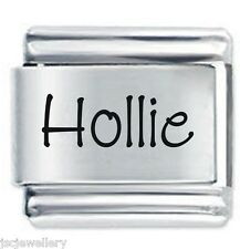 HOLLIE Name - Daisy Charm by JSC Fits Classic Size Italian Charms Bracelet