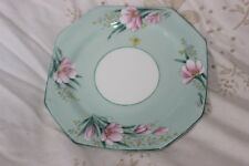 2 Side Plate Assiettes Royal Paragon by Appointment Green Flowers
