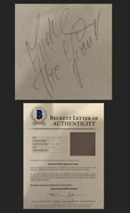 🔥 ANDRE THE GIANT SIGNED AUTOGRAPHED ENVELOPE WRESTLING WWF WWE BECKETT BAS COA