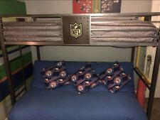 NFL boys bunk bed with twin bed on top and full futon on bottom