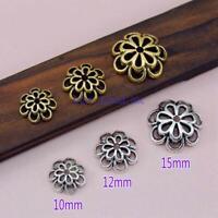 20pcs Tibetan Silver Flower Bead DIY Caps Jewelry Making Findings Making 15mm