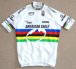 NEAR-PERFECT AMERICAN EAGLE 1995 MTB WORLD CHAMPION JERSEY. ULTIMA LARGE