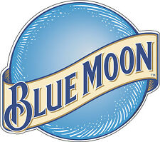 "Blue Moon Alcohol Bumper sticker, window wall decor, vinyl decal, 5""x 4.4"""