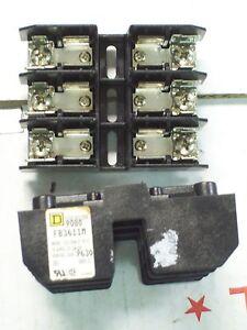 *LOT OF 2* SQUARE D 30A 30 AMP FUSE BLOCK HOLDER 600VAC , FB3611M