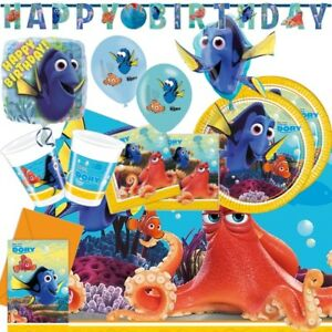 Disney Finding Dory Party Supplies Tableware, Decorations, Balloons