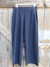 Eileen Fisher Size Medium Navy Blue Pants Wide Elastic Wst. Viscose/Nylon/Spndx