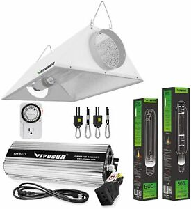 VIVOSUN 600 Watt HPS MH Digital Dimmable Grow Light System Kits Air Cooled Set