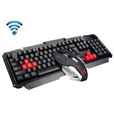 Wireless Ergonomic Usb Gaming Keyboard + 2.4GHz 6 Buttons Wireless Mouse Set