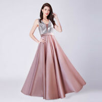 Ever-Pretty Long Formal Wedding Guest Dress Cocktail Prom Dress Ball Gowns 07638