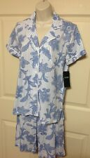 NWT LAUREN RALPH LAUREN 2-PC BERMUDA SHORTS PAJAMA SET SMALL BLUE PRINT  $62