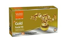 VLCC Gold Facial Kit 60gram Gel Mask Scrub Pre-Post Facial Cream 6 Step Formula