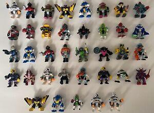 Vintage Galoob ZBots Figures! Lot Of 37! Some Duplicates!