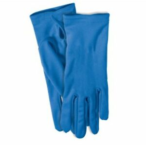 Gloves Superhero Short Blue Gloves Forum Novelties Costume Accessory