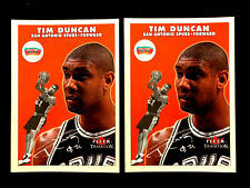 TIM DUNCAN ~ 2000 Fleer Tradition #148 ~ 2 CARDS  ~ NBA HALL OF FAME INDUCTEE