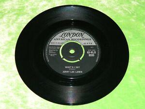 """JERRY LEE LEWIS : What'd I say / Livin' lovin' wreck -Original 1961 UK 7"""" VG 206"""