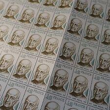 FEUILLE SHEET TIMBRE PRÊTRE ABBÉ BREUIL N°1954 x50 1977 NEUF ** LUXE MNH