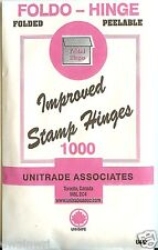 "Stamp Hinges - ""Foldo-Hinge"" TEN Packages of 1000 Folded - on SALE $19.99"