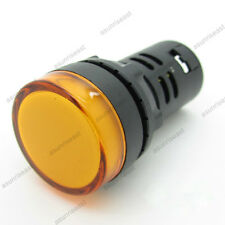 5PCS Yellow 22mm AC/DC24V LED Indicator Light Power Signal Panel Lamp AD16-22D/S