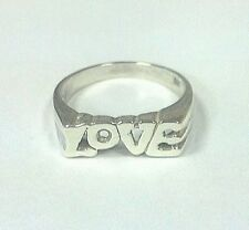 """Sterling Silver """"LOVE"""" Ring Size 6 1/2"""