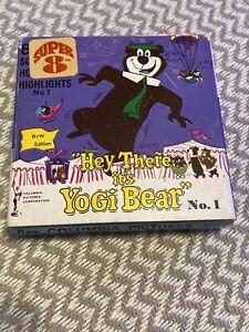 Super 8mm Silent Film Hey There It's Yogi Bear Souvenir Movie B/W Vintage 1964!!