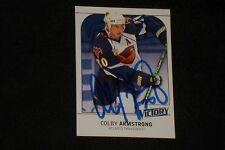 COLBY ARMSTRONG 2009-10 UD VICTORY SIGNED AUTOGRAPH CARD #9 ATLANTA THRASHERS