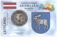 2 Euro Coincard / Infokarte Lettland 2018 Zemgale