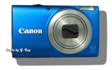 CANON A4000 IS BLUE-MECHANICALLY RECONDITIONED-8X ZOOM -LONG LASTING BATTERY