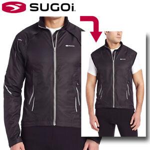 Sugoi Versa Convertible Cycling Jacket / Vest - Black - Small