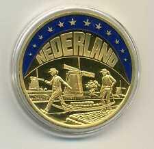 Die schönsten Farb ECU's Niederlande 1998 Käseträger Holland ECU vergoldet M_828