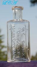 RARE style old MILES CITY MONTANA antique bottle W. E. SAVAGE Druggist