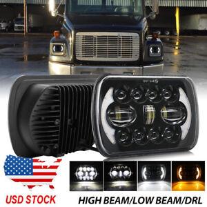 """1PC Black Led Headlight Hi-Lo 7x5"""" Freightliner FL106 FL112 FL60 FL70 FL80 FS65"""