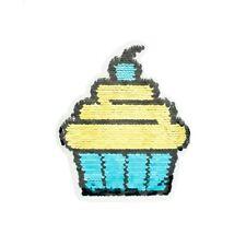 Wendepailletten Patches Aufnäher Pailletten Applikation Cupcake