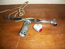 3 Lot Vintage Red Clear Green Glass Parking Marker Light Old Lamp Auto AnTiQuE