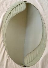 Palm Leaf Oval Shape Mirror Indoor Frameless Wall Hanging-Mirror