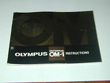 notice OLYMPUS OM1 en  ANGLAIS   photo photographie