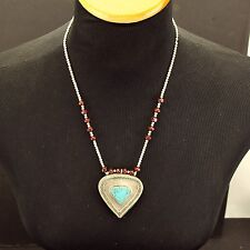 Genuine TURQUOISE Stone Belly Dance Bellydance Kuchi Tribal NECKLACE 800c4