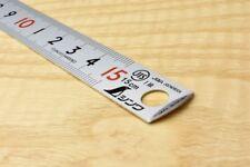Shinwa Stainless Pickup Rule Hard Chrome Finish 150mm