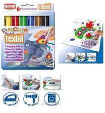Fabric Paint Sticks 6pc Set PRIMARY Colors Playcolor Pocket