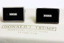 Donald Trump  Stainless Steel with Black & White Stone Elegant  Men's Cufflinks