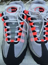 Nike Air Max 95 Men's Solar Red 609048-106 Size 9 FREE SHIP Gently Used