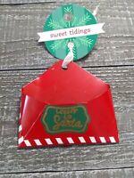 Sweet Tidings Letter to SANTA Mailbox  Tree Ornament New.