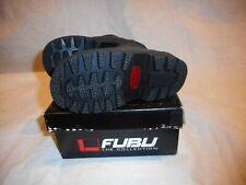 N/W/B Fubu Black Leather/Man Made Materials Boots Boys Size 7 U.S