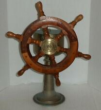 John Hastie & Co. Greenock Ships Wooden Ship Wheel & Steering Station