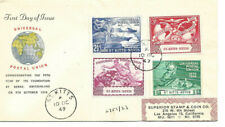 1949 Universal Postal Union St. Kitts - Nevis To Los Angeles Registered Fdc