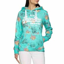 SUPERDRY Pull Sweat Vintage Tropic Taille XS ou 36 Bleu Turquoise /EBFE