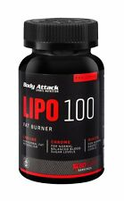 (34,71 Euro/100g) Lipo 100 Fatbruner von Body Attack 60 Kapseln