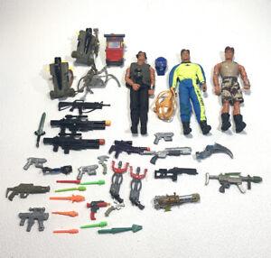 "90s GI Joe Vintage Mattel Lot Max Steele 12"" Action Figures Guns Accessories"
