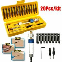 New 20pcs set Half Time Drill Driver Multi Function Screwdriver Tool Screw Power