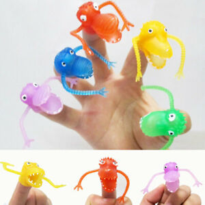 1/5pcs Cute Cartoon Artificial Animal Finger Dolls Dinosaur Finger Playing Toys